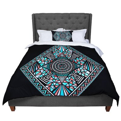 Pom Graphic Design Geo Glass Comforter Size: Queen