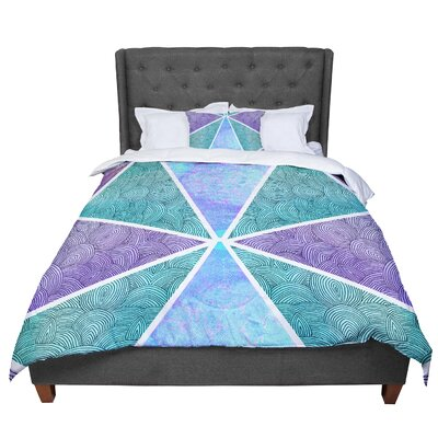 Pom Graphic Design Reflective Pyramids Comforter Size: King