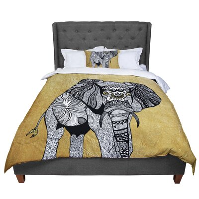 Pom Graphic Design Golden Elephant Comforter Size: Queen