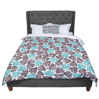 Pom Graphic Design The Barking Pug Comforter Size: King