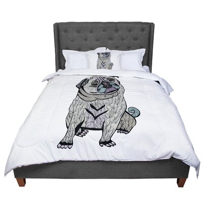 Pom Graphic Design Ares The Pug Comforter Size: King