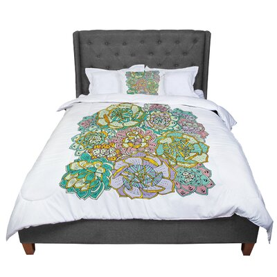 Pom Graphic Design Succulent Love Comforter Size: King