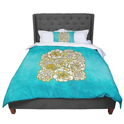 Pom Graphic Design Bohemian Succulents II Floral Comforter Size: King, Color: Teal
