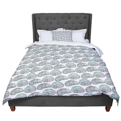 Pom Graphic Design Retro Sea Shells Nautical Comforter Size: Queen