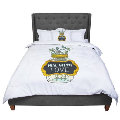Pom Graphic Design Heal with Love Illustration Comforter Size: King