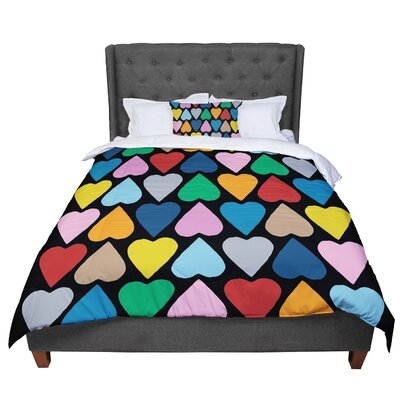 Project M Up and Down Hearts Comforter Size: Queen