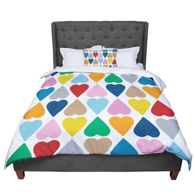 Project M Diamond Hearts Comforter Size: King