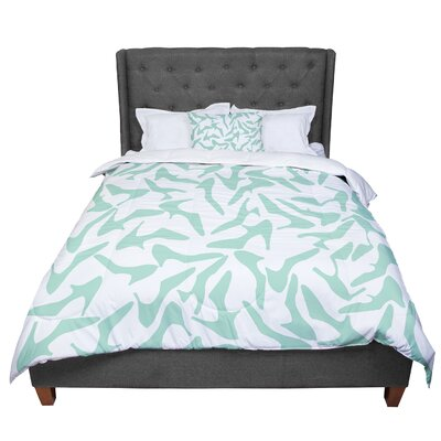 Project M Shoe Mint Comforter Size: Twin