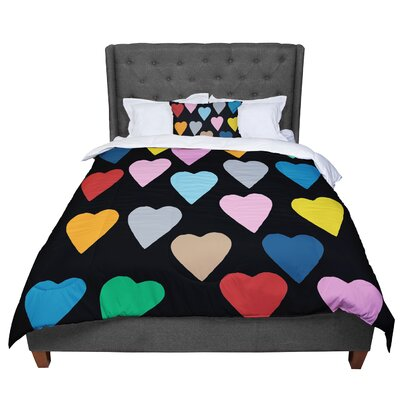 Project M Hearts Comforter Size: Twin