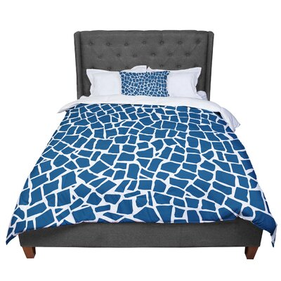 Project M British Mosaic Comforter Size: King, Color: Blue
