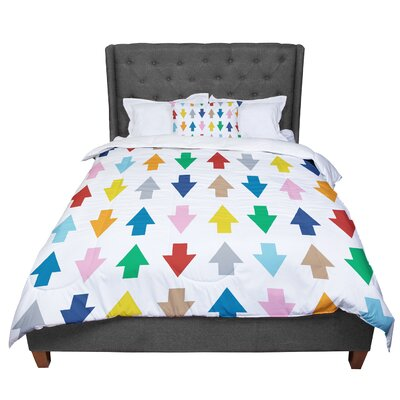 Project M Arrows Up and Down Comforter Size: Twin, Color: Down White