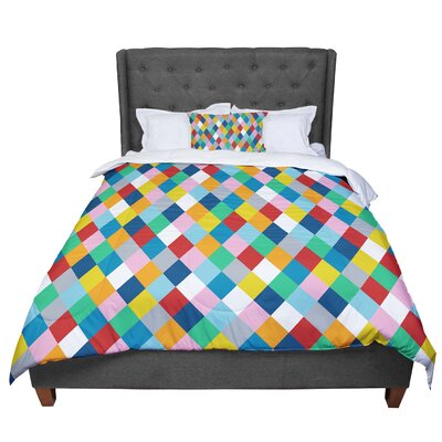 Project M Harlequin Zoom Comforter Size: King