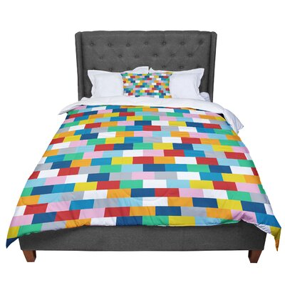 Project M Bricks Comforter Size: King