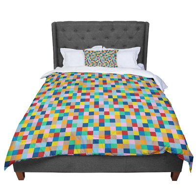 Project M Blocks Geometric Comforter Size: King