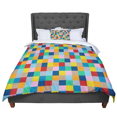 Project M Blocks Zoom Geometric Comforter Size: Queen