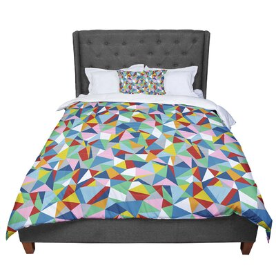 Project M Abstract Comforter Size: King, Color: Red/Green/Blue
