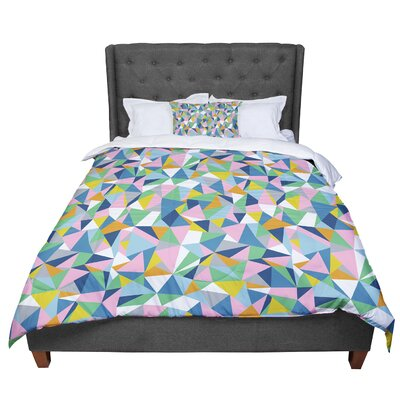 Project M Abstract Comforter Size: Queen, Color: Pink/Blue/Green