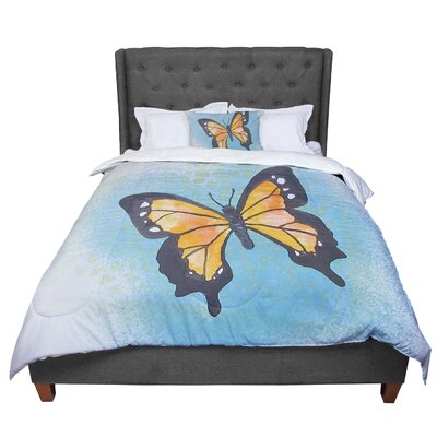 Padgett Mason Summer Flutter Comforter Size: Twin, Color: Blue