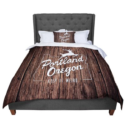 Juan Paolo Keep It Weird Portland Comforter Size: King