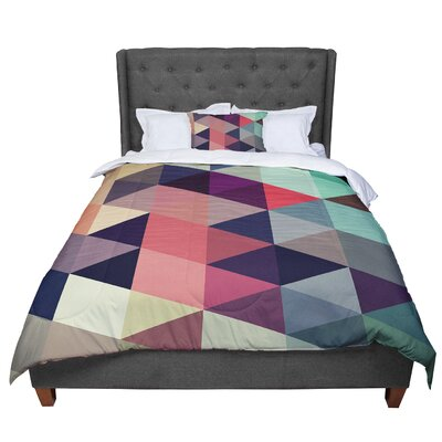 Juan Paolo Labyrinth Geometric Comforter Size: King