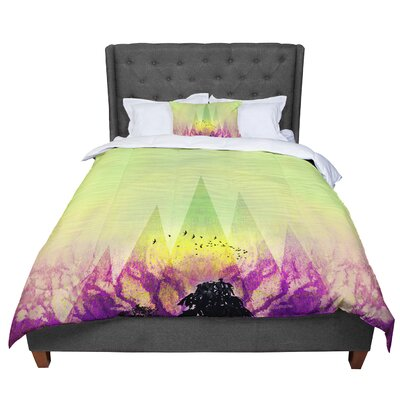 Pia Schneider Trees Under Magic Mountain Comforter Size: King