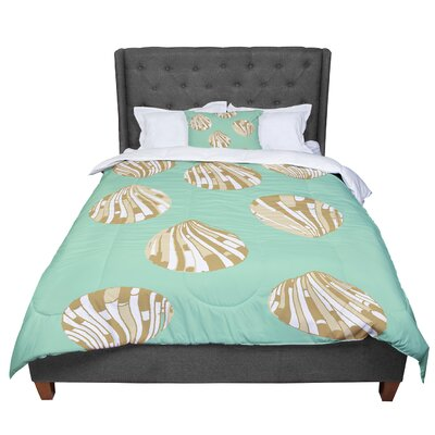 Rosie Scallop Shells Comforter Size: King