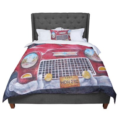 Rosie Vintage in Cuba Comforter Size: King