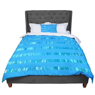 Rosie Wet Wild Stripes Comforter Size: King