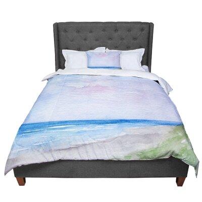 Rosie Wet Sand Beach View Comforter Size: Queen