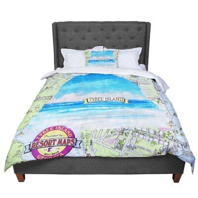 Rosie Tybee Island Ocean View Comforter Size: Queen