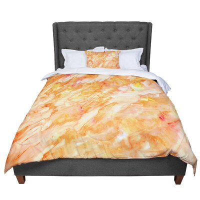Rosie Autumn Paint Comforter Size: King