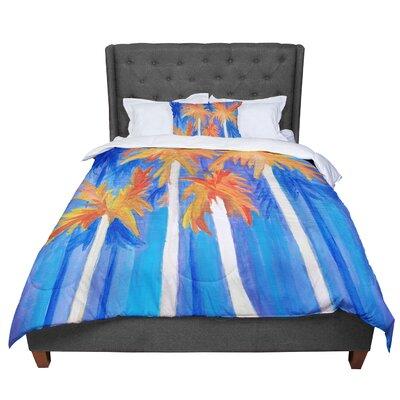 Rosie Florida Autumn Comforter Size: King