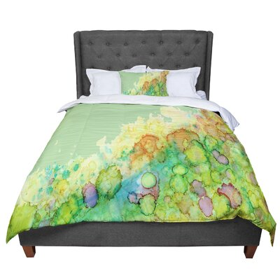 Rosie Sea Life II Comforter Size: Queen, Color: Yellow/Green