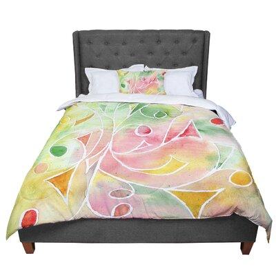 Rosie Gift Wrap Pastel Comforter Size: King