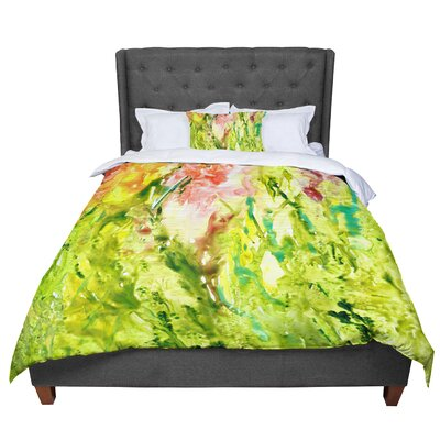 Rosie Thumb Paint Comforter Size: King