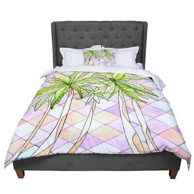 Rosie Geometric Tropic Comforter Size: King