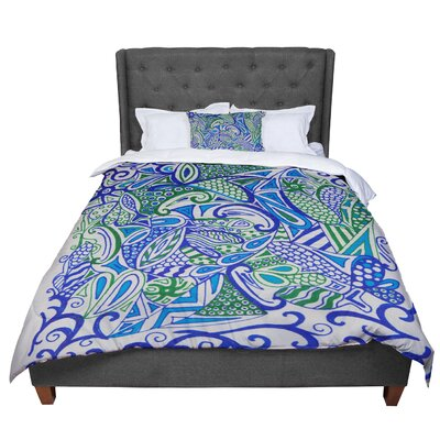 Rosie Zentangle Comforter Size: King