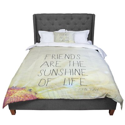 Rachel Burbee Friends and Sunshine Comforter Size: Queen