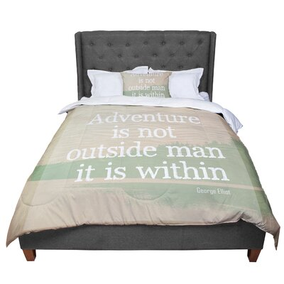 Rachel Burbee Adventure Nature Typography Comforter Size: Queen