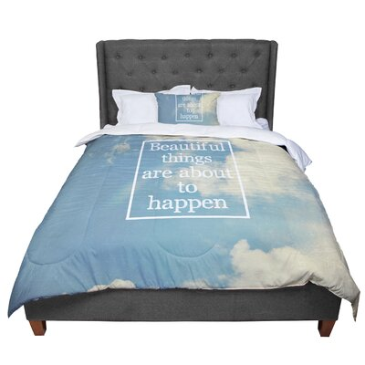 Rachel Burbee Beautiful Things Sky Clouds Comforter Size: King