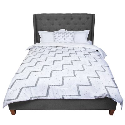 Richard Casillas Speckled Zigzag Comforter Size: King