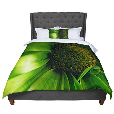 Robin Dickinson Flower Comforter Size: Queen