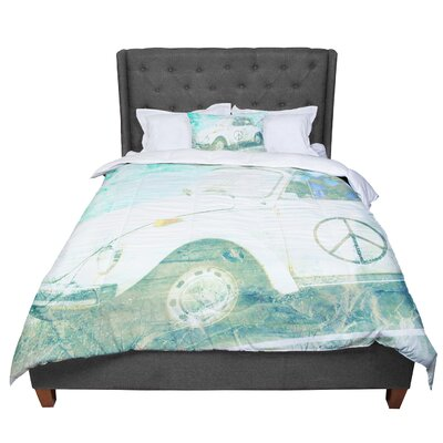 Robin Dickinson Love Bug Comforter Size: King