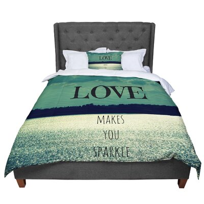 Robin Dickinson Love Makes You Sparkle Comforter Size: King