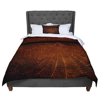 Robin Dickinson Dark Web Maroon Comforter Size: King