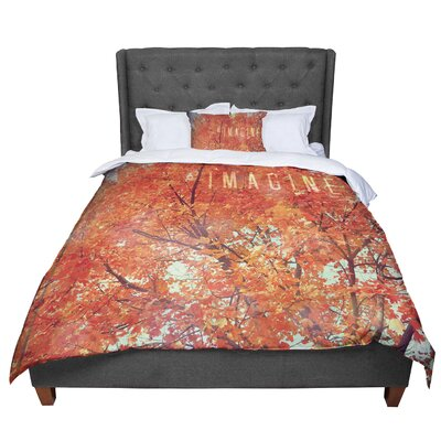 Robin Dickinson Imagine Leaves Comforter Size: Queen