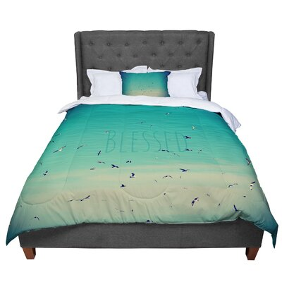 Robin Dickinson Blessed Birds Comforter Size: Queen