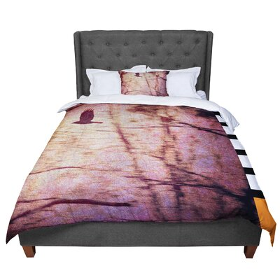 Robin Dickinson Midnight Dreary Tree Comforter Size: Twin
