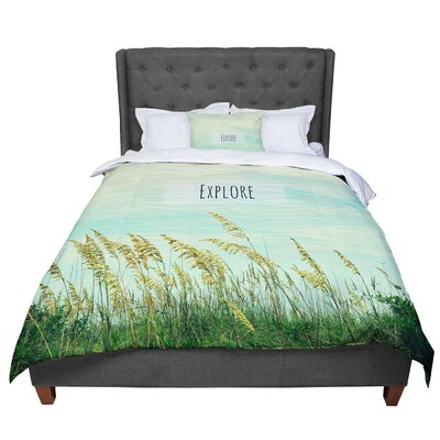 Robin Dickinson Explore Quote Comforter Size: King