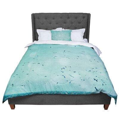 Robin Dickinson Down by the Sea Comforter Size: King